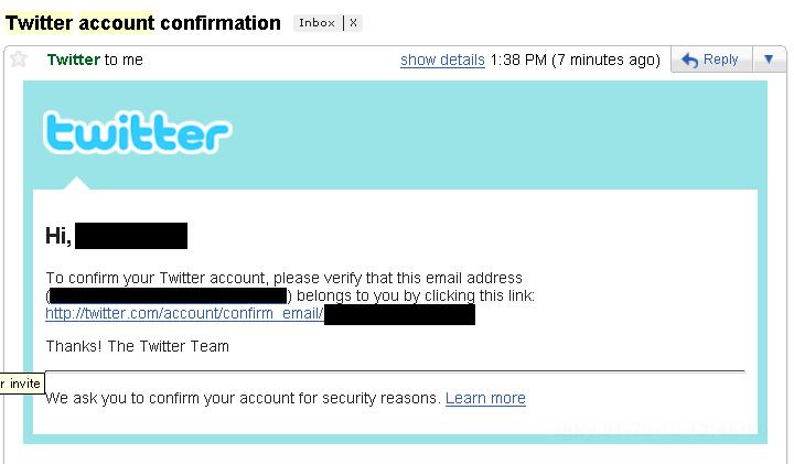 ツイッターの新規登録にメール確認が必要になってたんですね