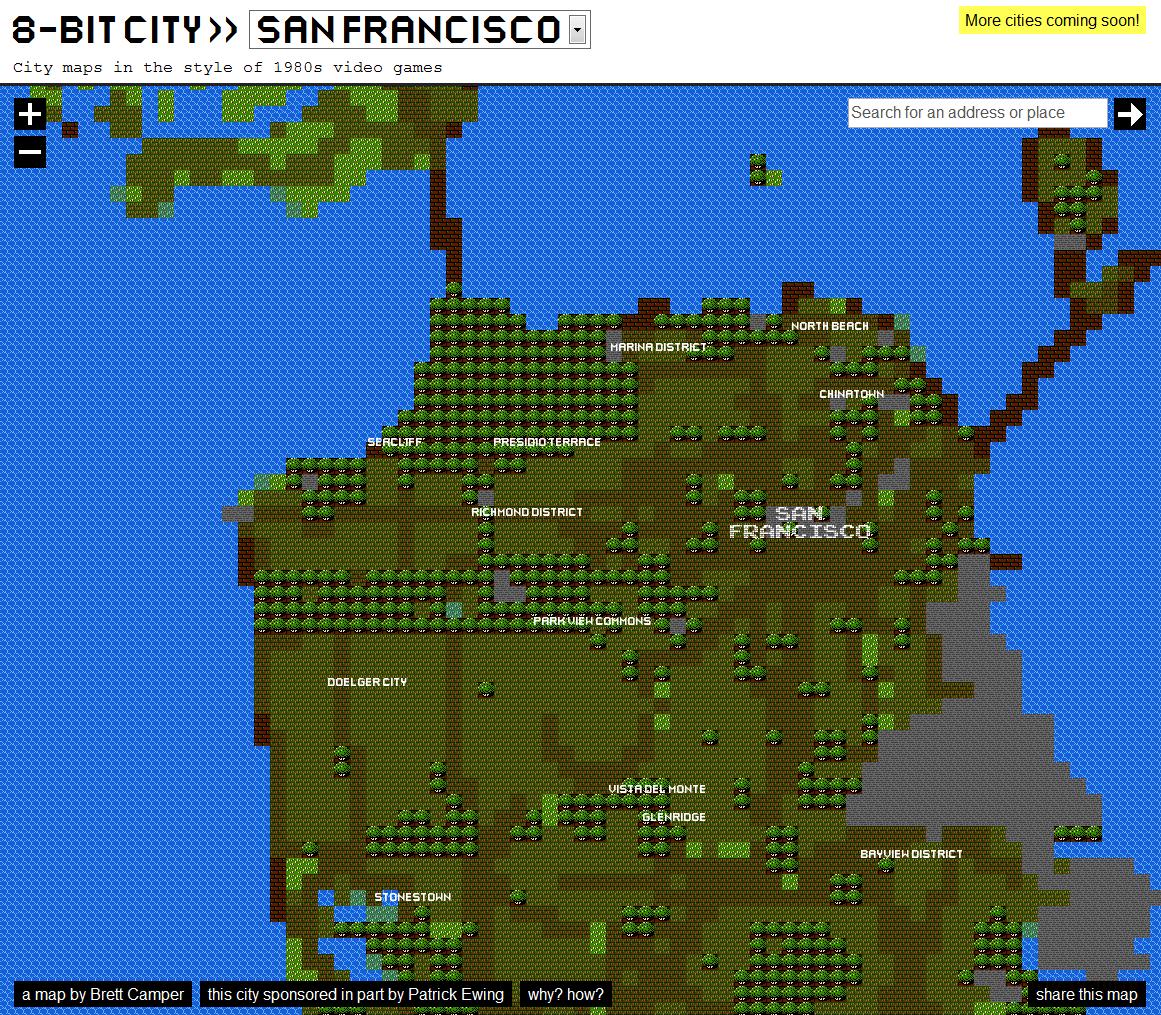 8bitcity – ドラクエ風世界各国の都市。こいつ、動くぞ!