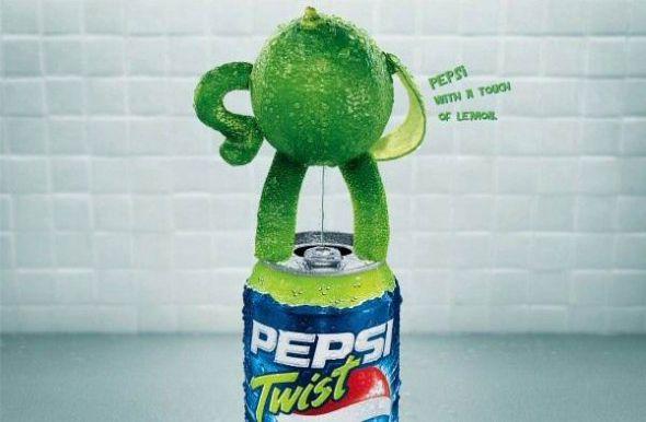 ブラジルのペプシ・レモンツイストの広告